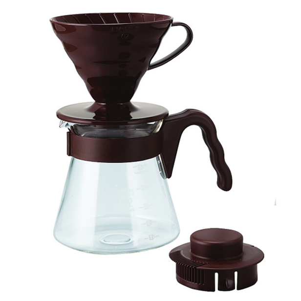 HARIO V60 POUR OVER KIT BROWN (VCSD-02-CBR)