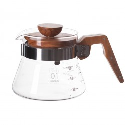 HARIO V60 COFFEE SERVER 400ML OLIVE WOOD (VCWN-40-OV)