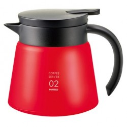 HARIO V60 INSULATED STAINLESS STEEL SERVER 600 RED (VHS-60R)